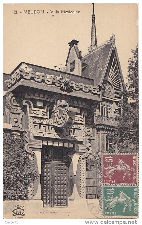 Meudon 92 -  Villa Mexicaine  - Cachet Correspondant 11 Rue Lavoisier - Meudon