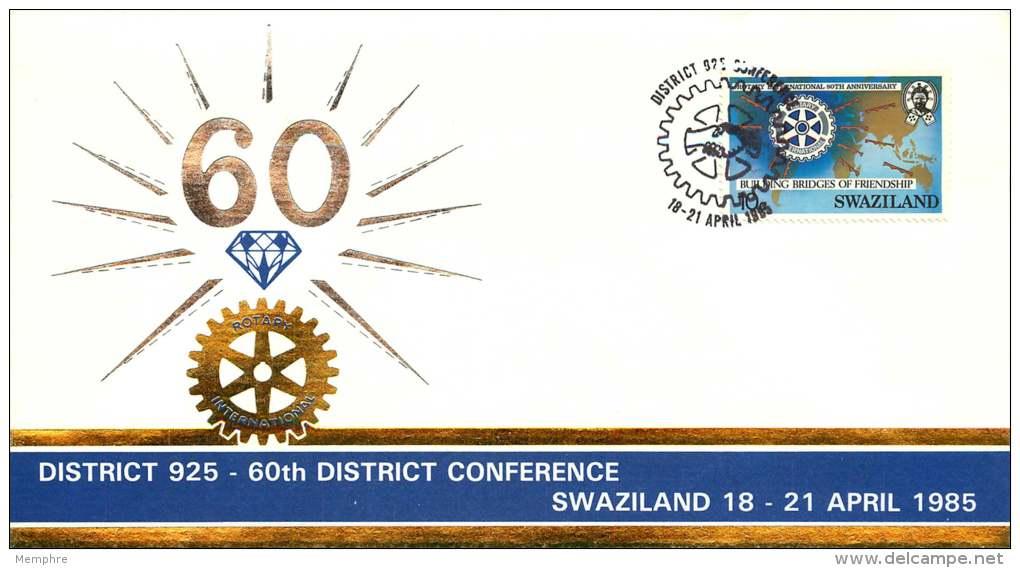 1985  Souvenir 60è Conférence De District   Du Rotary International    Non Adressé - Swaziland (1968-...)