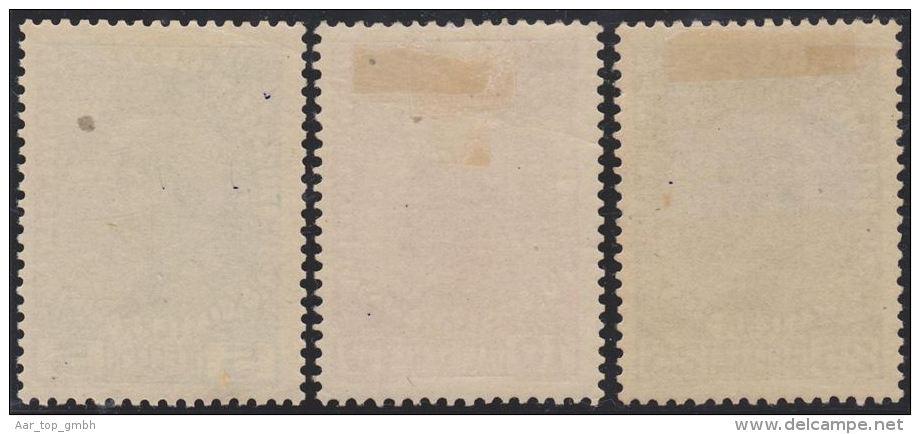 Liechtenstein 1912 Fürst Johann II Zu#1y-3y * Falz Ungebr. Gewöhnl.Papier Gelb.G - Liechtenstein