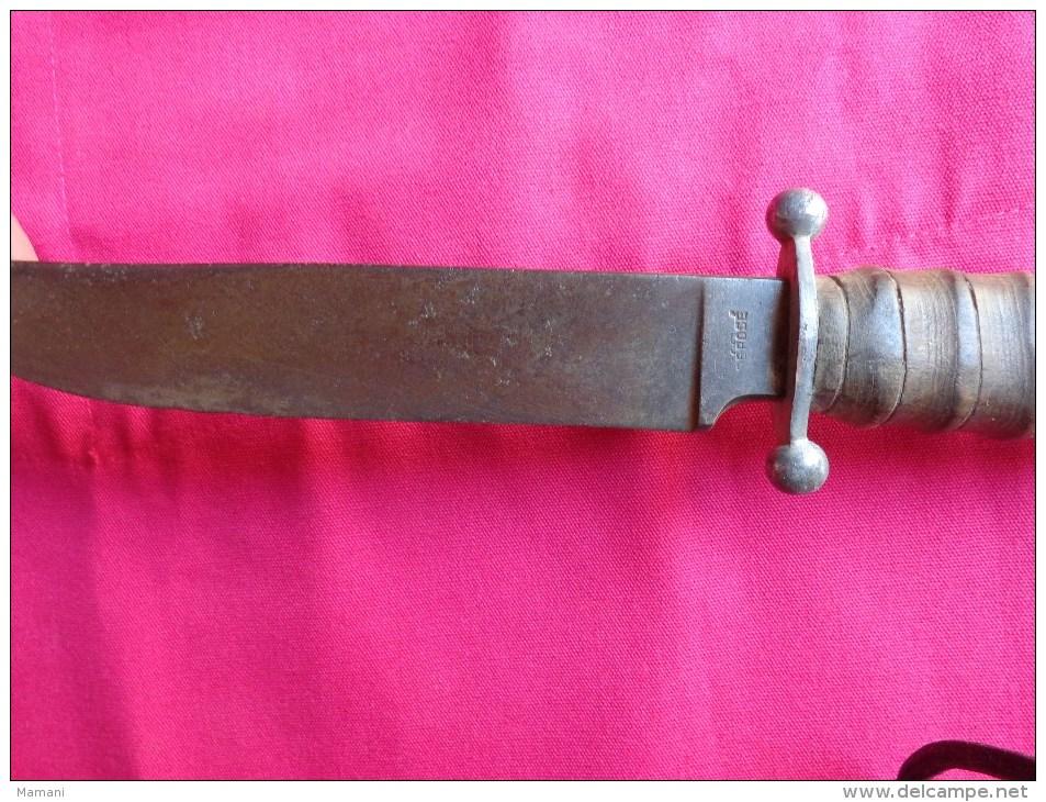 Couteau Sabatier-poignard Des Chantiers De Jeunesse-scoutisme- - Armes Blanches