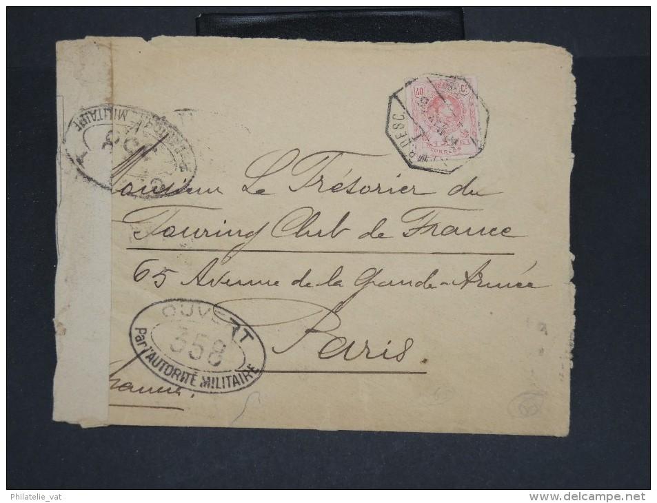 ESPAGNE-Enveloppe Pour Paris Aff Pérforé C.L. En 1918 Avec Controle  à Voir Lot P7084 - Cartas