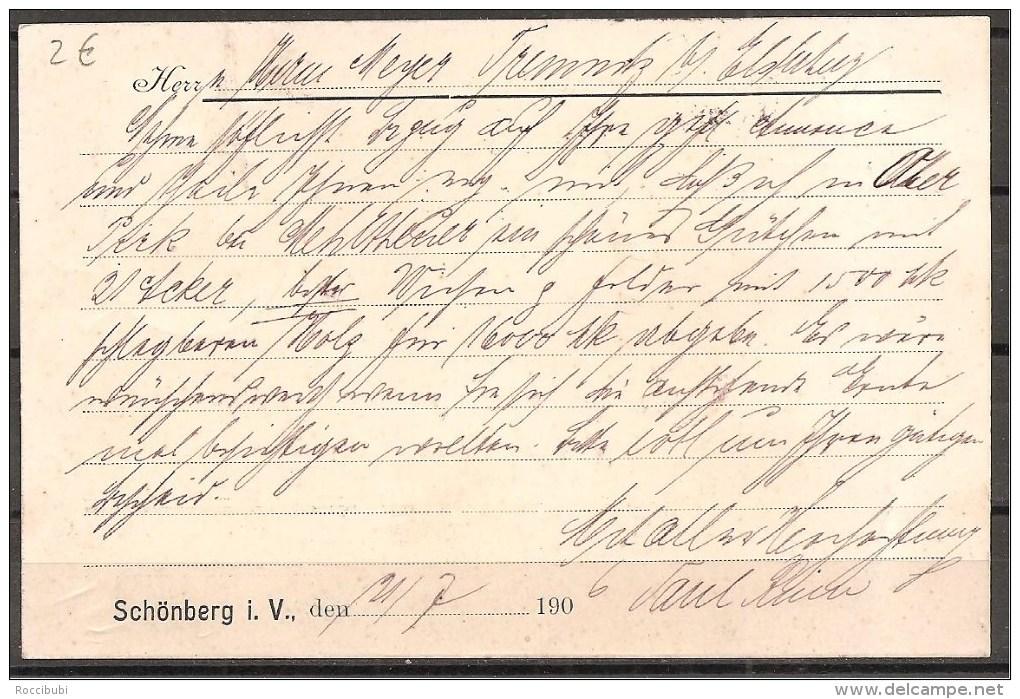 Deutsches Reich - Ganzsache - Schönberg - Elsterberg 1906 - Ganzsachen