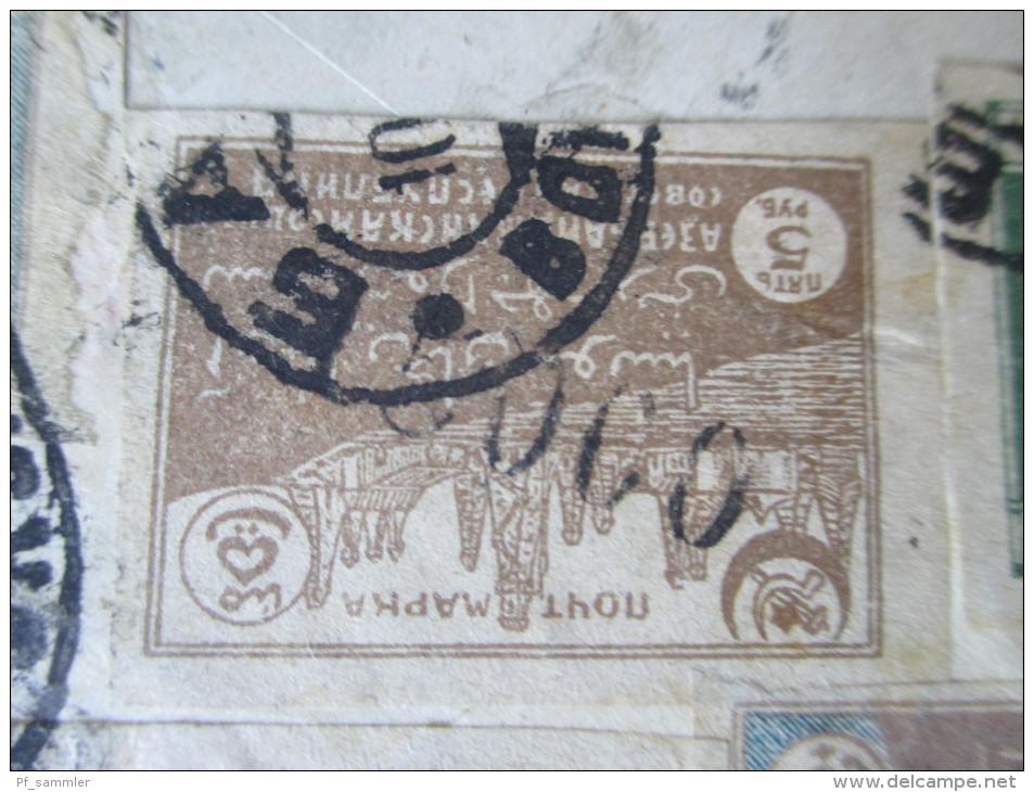 Russland / Aserbaidschan. Helenendorf. Kaukasiendeutsche. Seltener Beleg! RRR. Marken Mit Audruck.1922. Kaukasus - Azerbaïjan