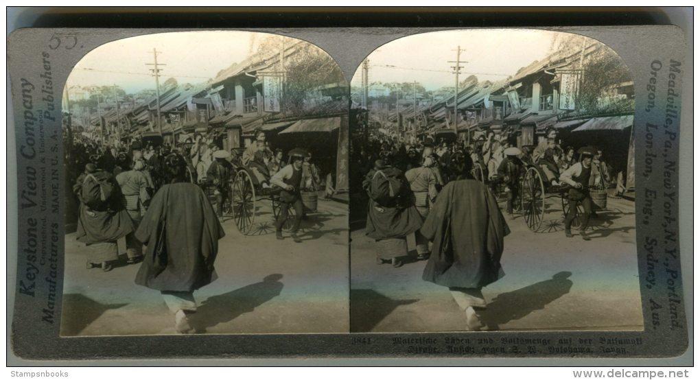 Keystone View Company Stereoscope Japan Yokohama Street Scene - Stereoscopes - Side-by-side Viewers