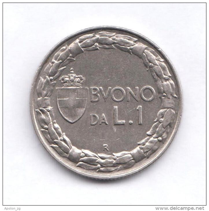ITALY   1 Lira 1928R  XF/SPL  High Grade   KM#62 - 1861-1946 : Kingdom