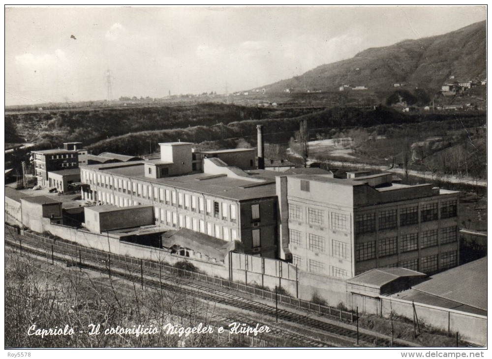Lombardia-brescia-capriolo Veduta Stabilimento Cotonificio Niggeler E Kupfer Anni/50/60 - Italia