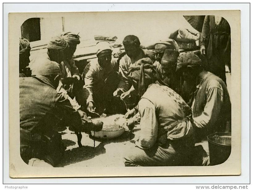 Grece WWI Guerre D'orient Troupes à Salonique ? Popote Ancienne Photo 1918 - War, Military