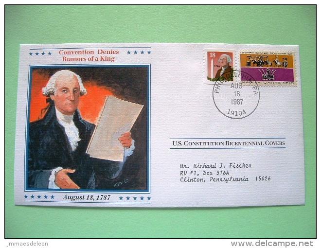 USA 1987 U.S. Constitution Bicentennial Covers - Rumors Of A King - Etats-Unis