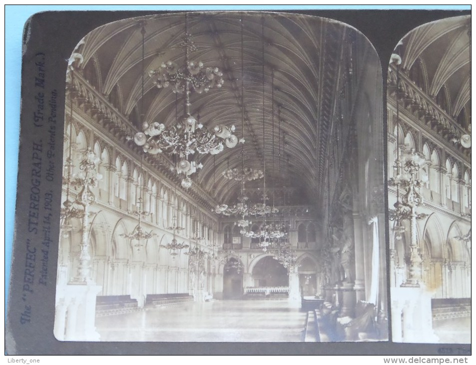 RECEPTION HALL In The RATHAUS VIENNA ( 4513 ) Austria PERFEC Stereo Photo ( Voir Photo Pour Detail ) !! - Photos Stéréoscopiques
