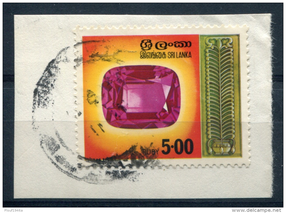 Pays : 449 (Sri-Lanka (ex-Ceylan))  Yvert Et Tellier N° :  477 (o) Sur Fragment - Sri Lanka (Ceylon) (1948-...)