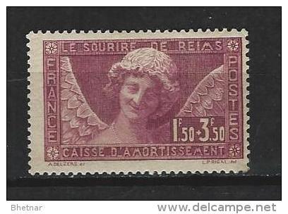 "FR YT 256  "" Caisse Amortissement : L´ange Au Sourire "" 1930 Neuf* - Sinking Fund"