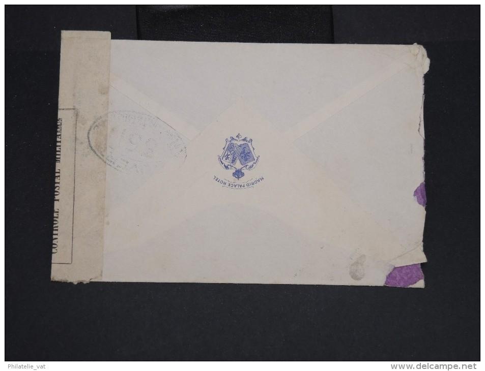 ESPAGNE-Enveloppe De Madrid Pour Paris En 1917 Avec Censure  à Voir P7253 - Cartas