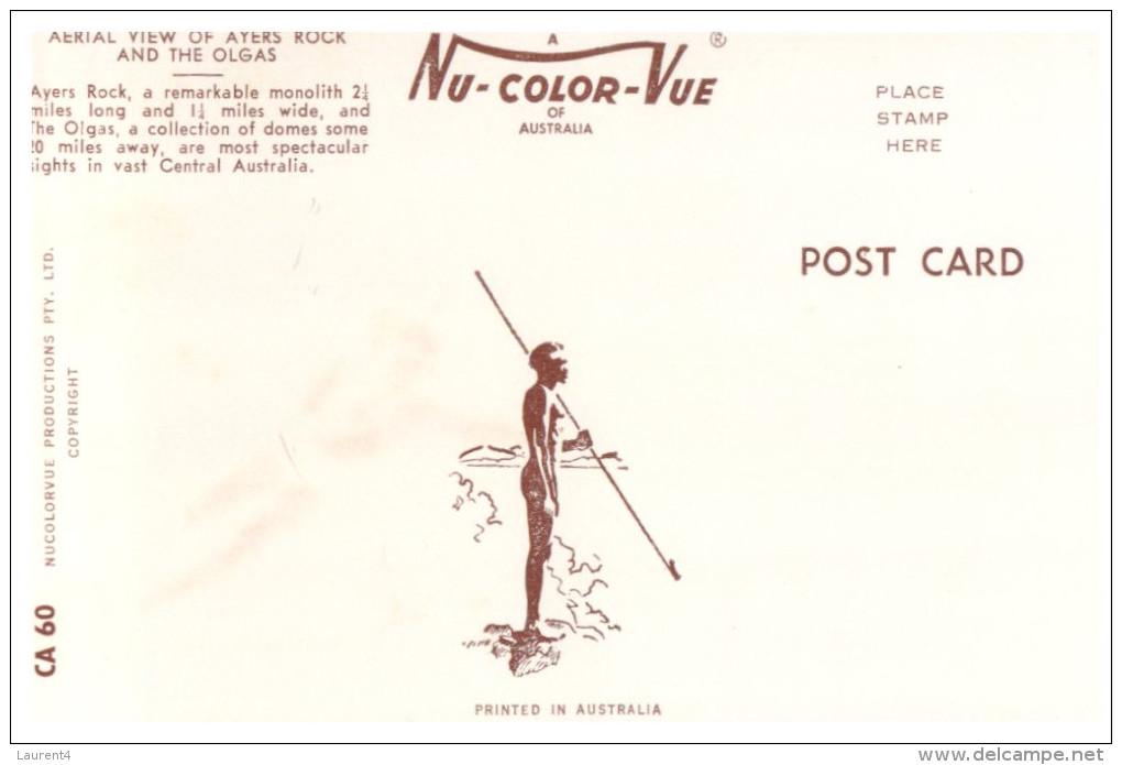 (777) Australia Early Postcard - Ayers Rock - Aborigènes