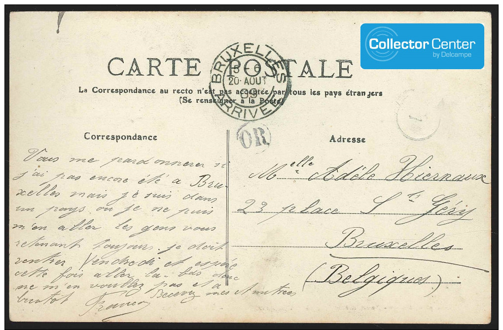 """Exceptionnelle Collection De 15 Cartes """"cyclisme"""" écrites Par Le Vainqueur François Faber Lors Du Tour De France 1909 ! - Cycling"""