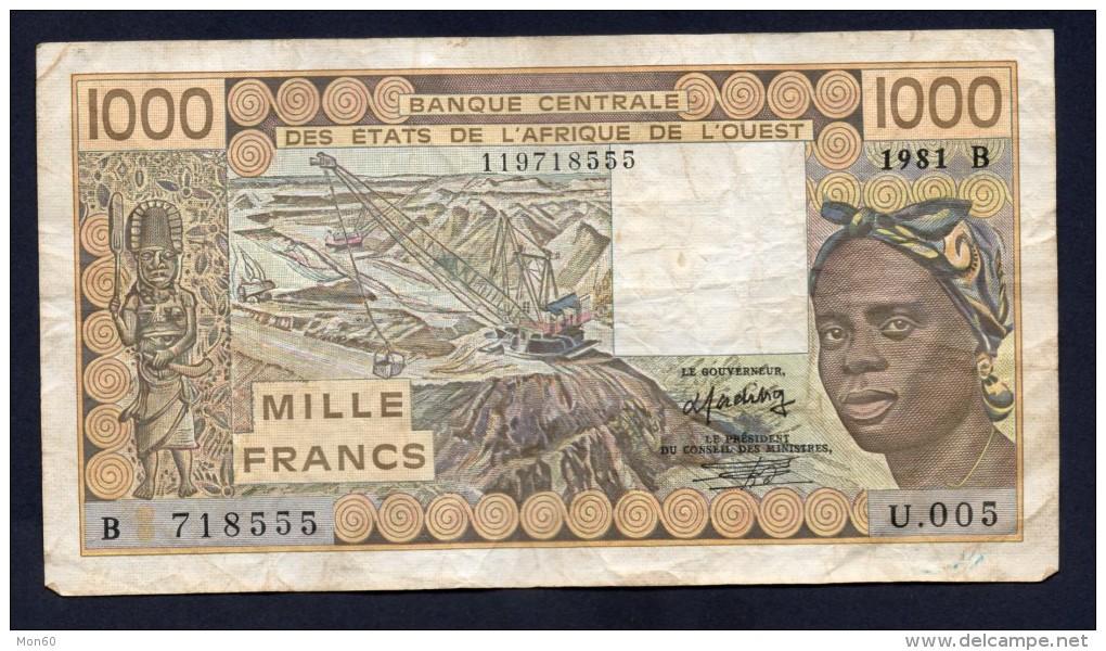 WEST AFRICA 1000 FRANCHI 1981 - BB - Banconote