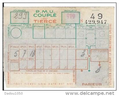 7 Tickets PMU - Billets De Loterie
