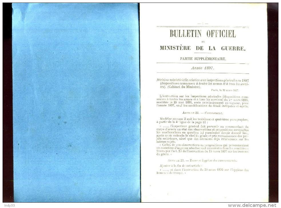 - INSPECTIONS GENERALES EN 1897 . DISPOSITIONS COMMUNES A TOUTES LES ARMES ET A TOUS LES SERVICES . - Bücher