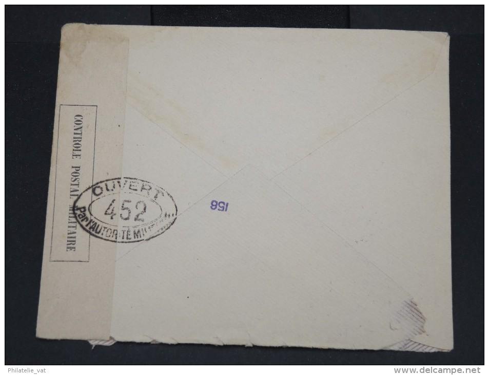 ESPAGNE - Enveloppe De Barcelone Pour La France Avec Bande De Controle Militaire  -  à Voir P7329 - Cartas