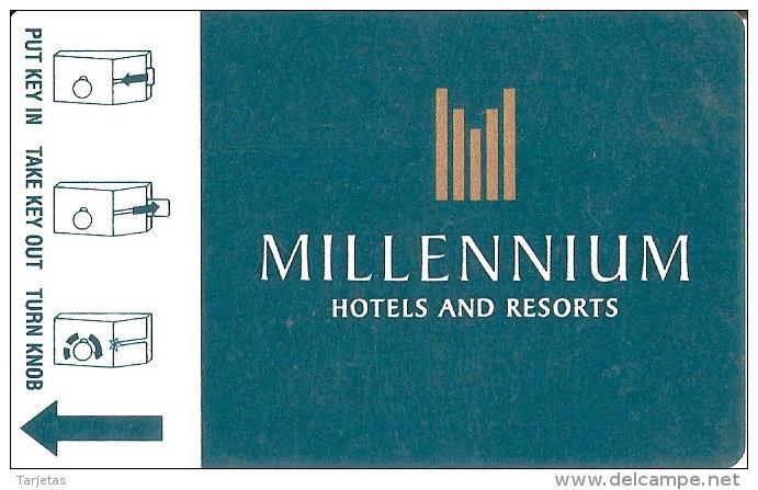 TARJETA DE HOTEL MILLENNIUM (KEY CARD-LLAVE) - Cartas De Hotels
