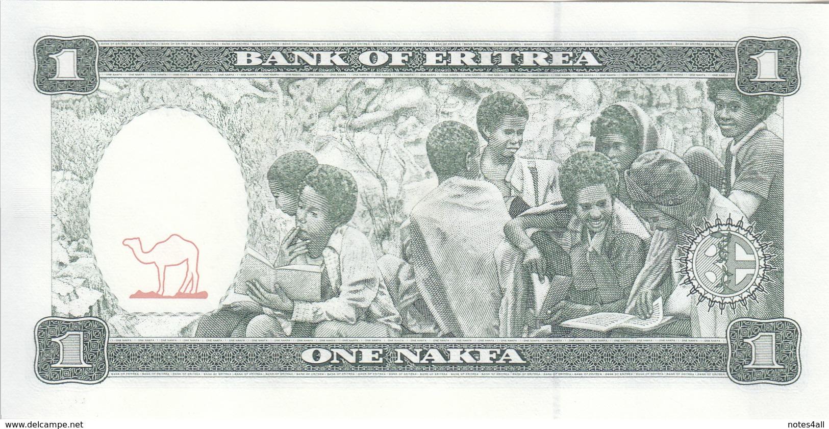 ERITREA 1 NAKFA 1997 P-1 UNC LOT X5 NOTES CONSECUTIVE - Erythrée