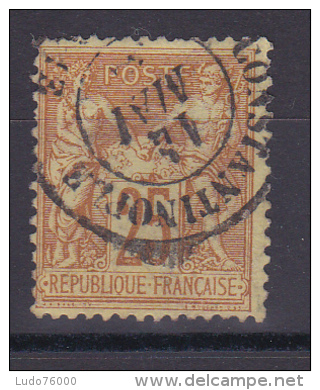 SAGE N° 92 CACHET CONSTANTINOPLE - 1876-1898 Sage (Type II)