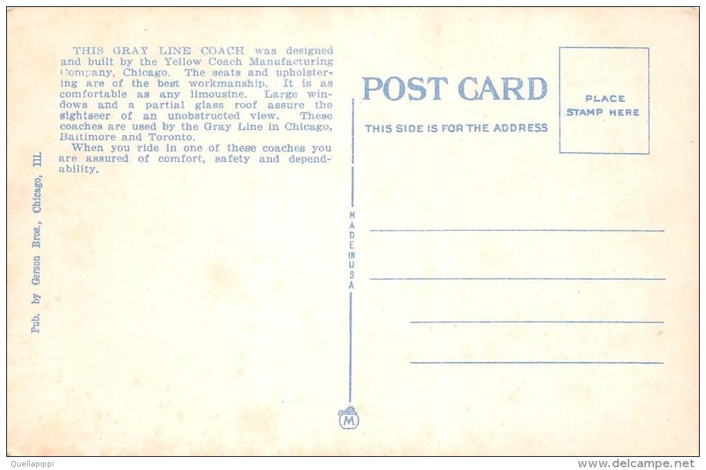 "01823  ""THE GRAY LINE BUS"". YELLOW COACH MANUFACTURING.  CART. POSTALE.  NON SPEDITA - Altri"