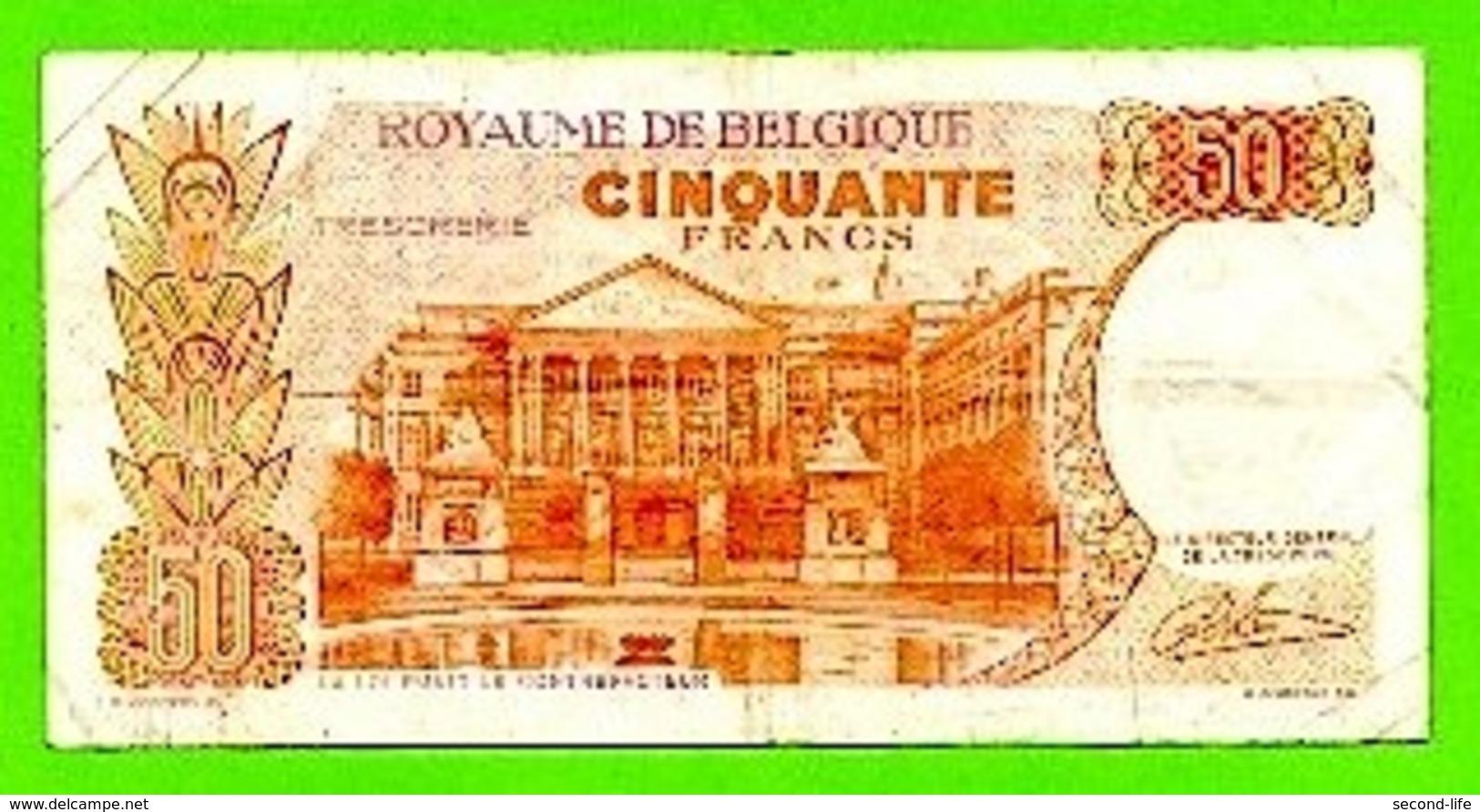 Begië. Biljet 50 Frank.  Koninkrijk België Vijftig Frank. Royaume De Belgique Cinquante Francs. - [ 2] 1831-... : Koninkrijk België