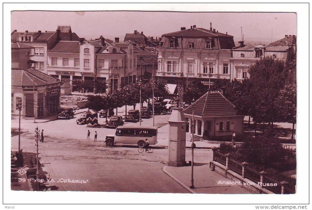 "BULGARIA,1920´s RUSE,""SREDEC"" STREET CARS , BUS  RARE PC,ROUSTCHOUK,RUSSE,WIDIN,BULGARIE - Postcards"
