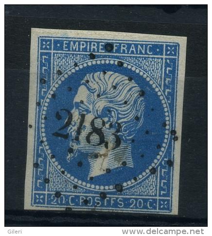 N 14A Ob Pc2183 Variété Poste F - 1853-1860 Napoleon III