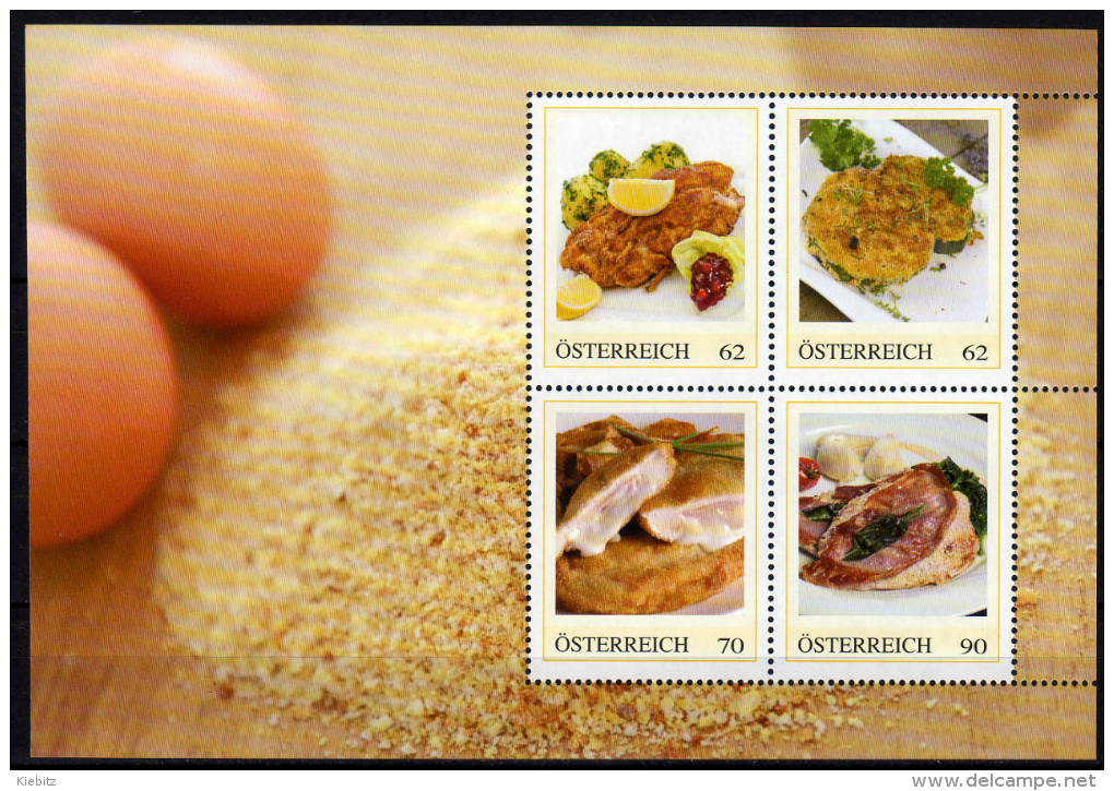 ÖSTERREICH 2014 ** Fleisch Spezialitäten ( Block 1) - PM Personalized Stamps MNH - Ernährung