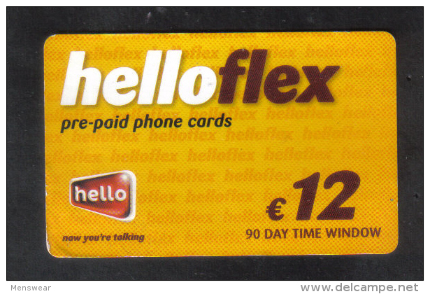 MALTA - HELLO FLEX  PHONECARD  (  GLOSSY CARD )  12 EUROS USED - Malta