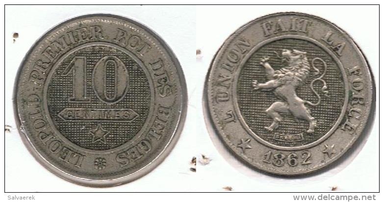 BELGICA 10 CENTIMES FRANC 1862 G1 - 1831-1865: Léopold I