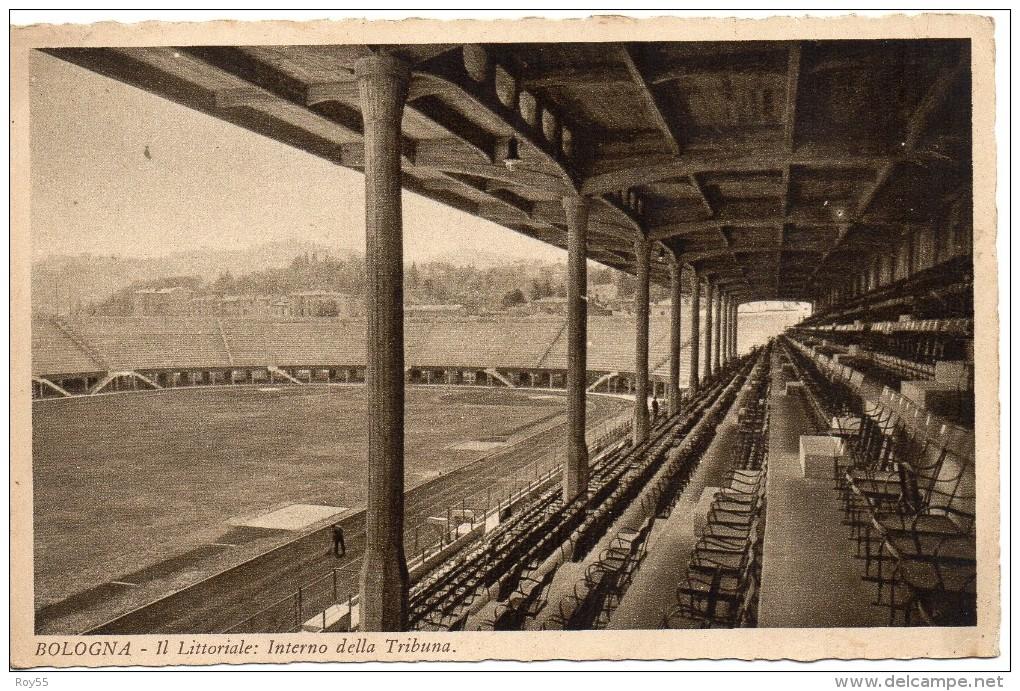 Bologna Stadio Littoriale Veduta Interno Tribuna E Parte Campo Di Calcio Sport Stadi - Calcio