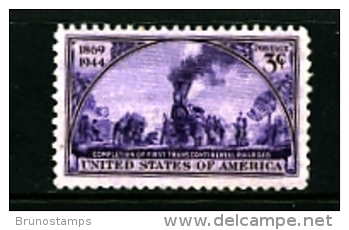UNITED STATES/USA - 1944   TRANSCONTINENTAL  RAILROAD  MINT NH - United States