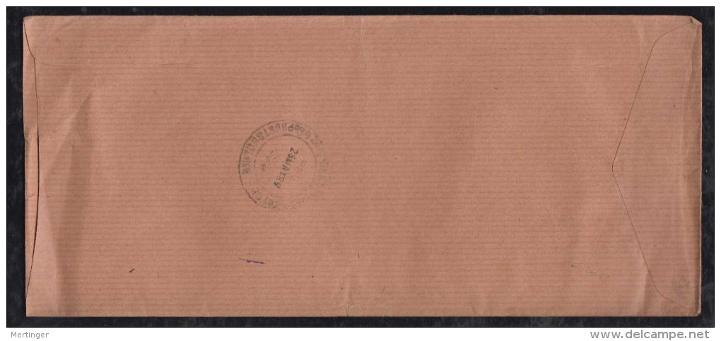 Bhutan 1989 Registered Cover Bird Stamps Local Use - Bhutan