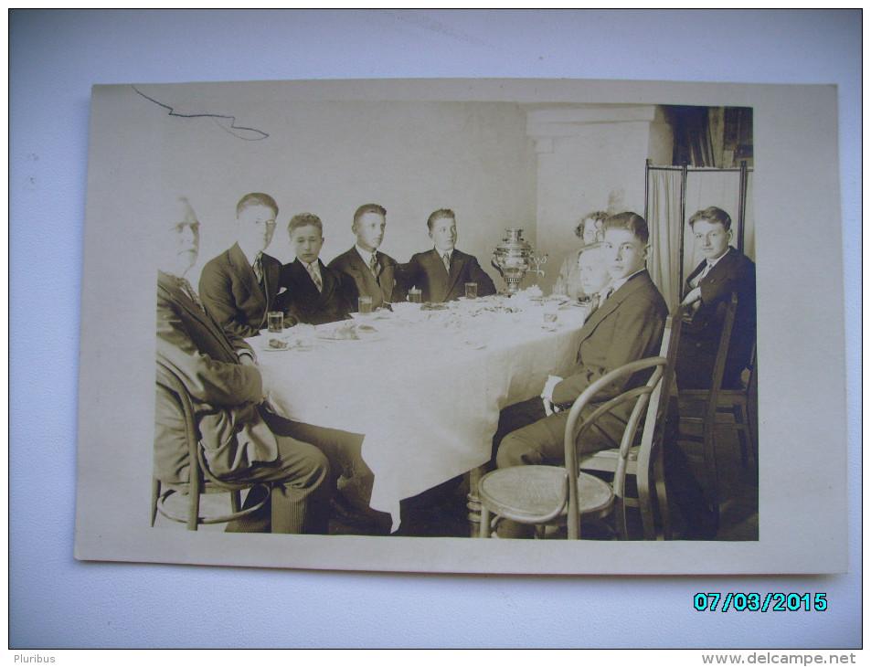 1930 TEA DRINKING , RUSSIAN SAMOVAR , OLD POSTCARD , 0 - Europe
