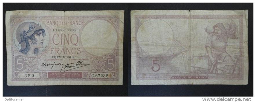 BILLET 5 FRANCS VIOLET - 12 12 1940 - C 67232 - 329 - 1680777329 - 1871-1952 Antiguos Francos Circulantes En El XX Siglo