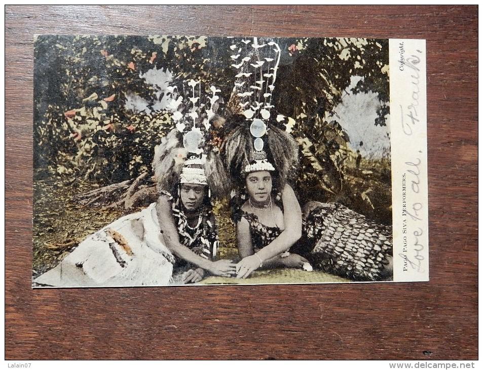 Carte Postale Ancienne :  PAGO PAGO : Siva Performers, Stamp 1906 - Amerikanisch Samoa