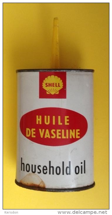 Boite En Fer Shell Contenant De L'huile De Vaseline - Non Classés