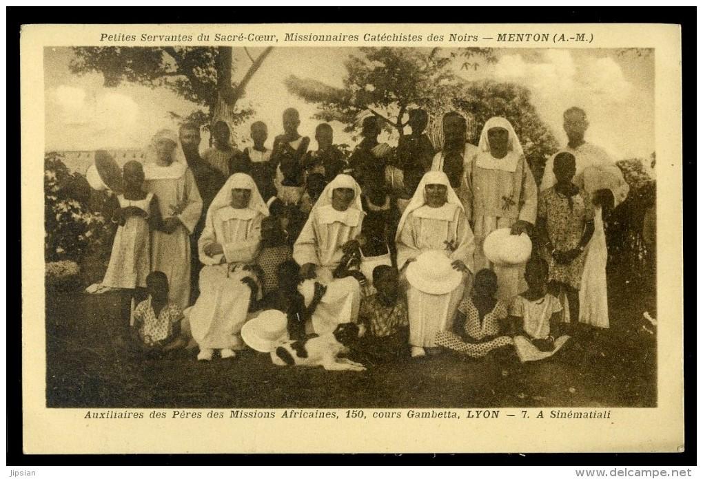 Cpa De Côte D´ Ivoire -- Sinématiali -- Petites Servantes Du Sacré Coeur Menton --     AA7 - Côte-d'Ivoire