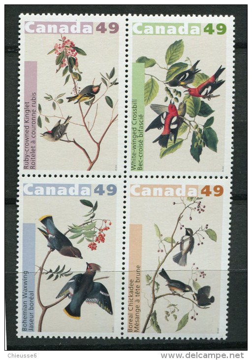 Canada **   N°  2076 à 2079 - Oiseaux - Audubon - 1952-.... Règne D'Elizabeth II