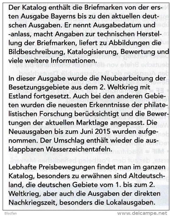 All Stamps Germany With DVD MICHEL 2015/2016 New 52€ D AD Baden Bayern DR 3.Reich Danzig Saar SBZ DDR Berlin AM-Post BRD - Dutch