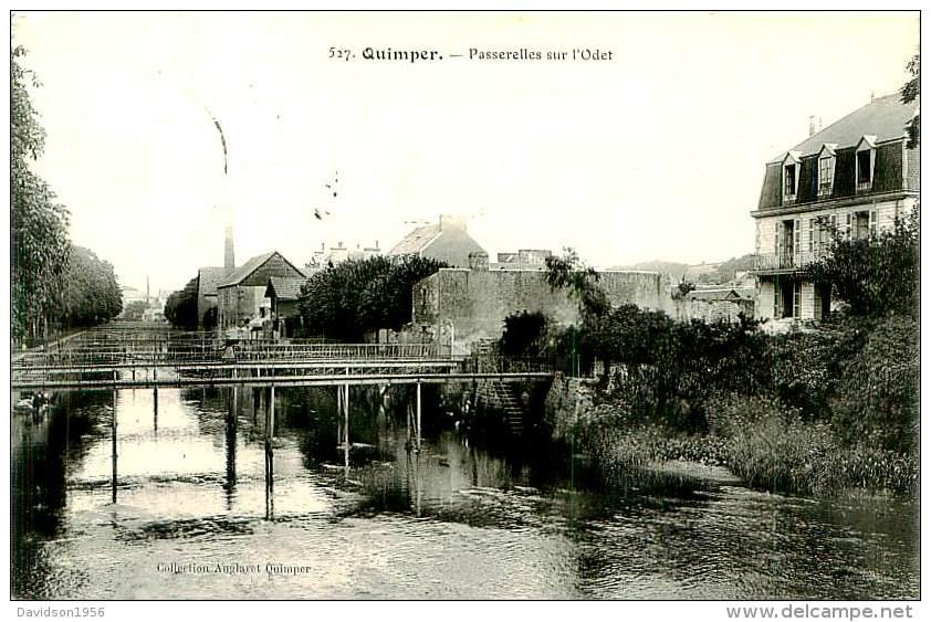 Belle Carte   Cpa  -  Quimper -  Passerelles Sur L 'Odet                      N1036 - Quimper