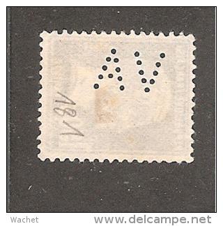 Perfin/perforé/lochung France No 181 AV  L'Abeille Assurance Vie  Alfred Videau - Perforés