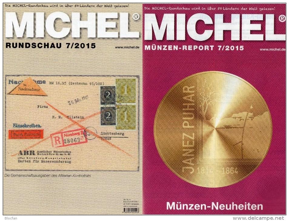 MICHEL Briefmarken Rundschau 7/2015 Neu 6€ New Stamp Of The World Catalogue And Magacine Of Germany ISBN 9 783954 025503 - Deutsch