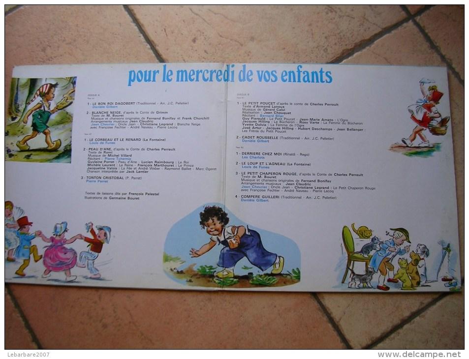 """33 Tours 30 Cm - POUR LE MERCREDI DE VOS ENFANT ( Germaine BOURET   - VOGUE 665  """" BLANCHE NEIGE """" + 10 ( 2 Disques ) - Children"""