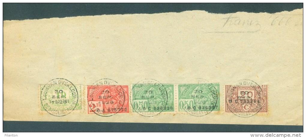 """BELGIE - Fiscale Zegels Op Fragment (ref. 3) """"LOUIS VAN OVERLOOP - ST-NICOLAS - 30 SEP. 1926"""" - Fiscale Zegels"""