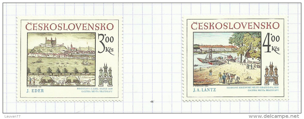 Tchécoslovaquie  N°2412, 2413 Neufs Avec Charnière* Cote 6 Euros - Czechoslovakia