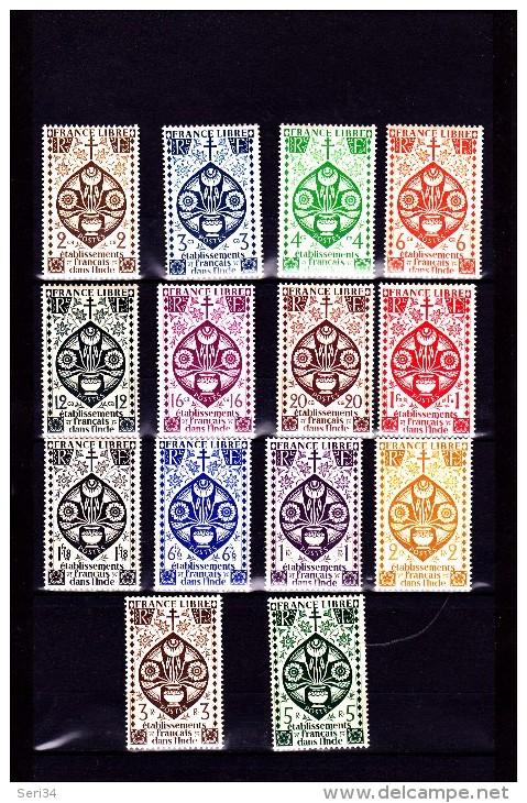 INDE :série De Londres : Y&T :217 à 230* Légère Charnière - India (1892-1954)