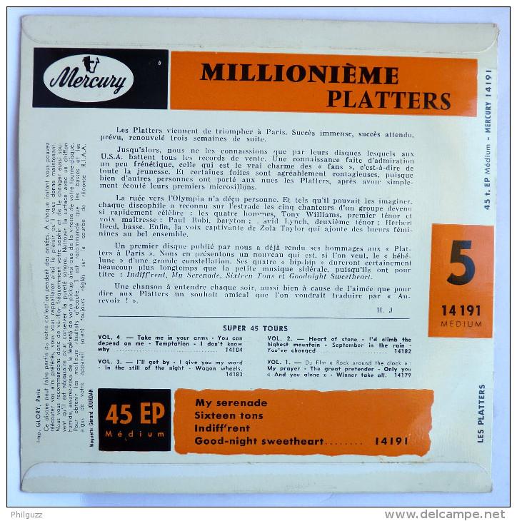 Disque Vinyle 45T LES PLATTERS Millionième - MY SERENADE -  MERCURY 14191 - 1957 BIEM - Rock